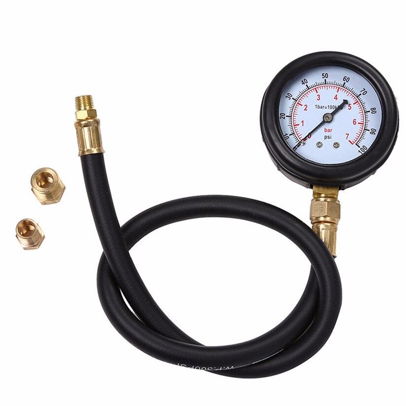 Car-styling CARPRIE Oil Pressure Gauges Car Motor Multi-Function Gas Engine Compression Cylinder Durable Rubber Hose L0515