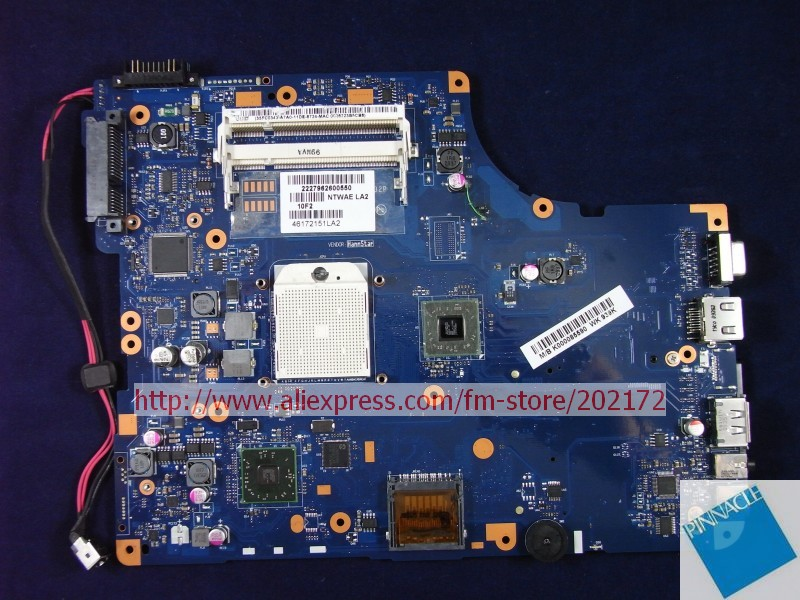 K000085590 MOTHERBOARD FOR TOSHIBA Satellite L550D L555D  NSWAE LA-5332P TESTED GOOD v000138700 motherboard for toshiba satellite l300 l305 6050a2264901 tested good