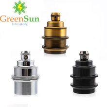 GreenSun 3 Color Set E27 Lamp Holder Copper Retro Screw Bulb Base Pendant Lighting Socket Ceiling Light Adaptor(China)