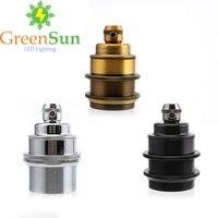 GreenSun 3 Color Set E27 Lamp Holder Copper Retro Screw Bulb Base Pendant Lighting Socket Ceiling Light Adaptor