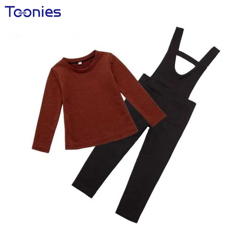 2018 Autumn Spring Girl Sportswear Fashion Striped Girl Pants Suit Casual High Quality Children Clothing Sets 2pcs Girl Suits