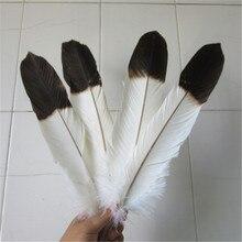 도매 12 pcs (1 set) 희귀 한 흰 독수리 꼬리 깃털 길이 40 45 cm/16 18 inch diy 독수리 깃털 장식 장식
