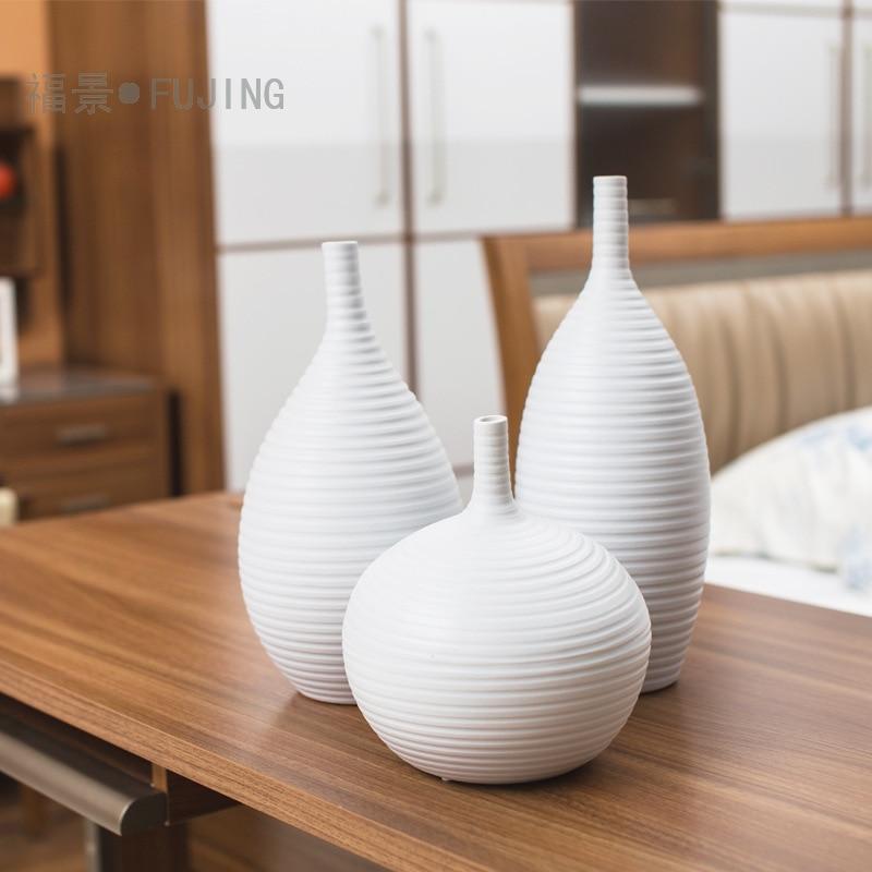 Оптовая продажа трех частей керамических ремесел керамика ваза цветочный Декор для дома Декор резьба фильтра