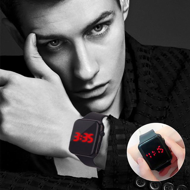 Mens Sport Watch Square LED Student Adult Couple Electronic Digital Watch Electronic Clock Hodinky digital relogio Y501 1