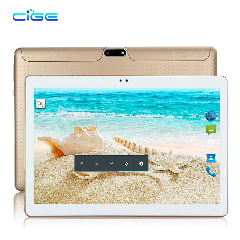 CIGE Free Ship 10 inch Tablet PC Android 7.0 2GB RAM 16GB ROM Quad Core 4 Cores Dual Cameras 5.0MP 1280*800 IPS Phone Tablets blackview omega 5 0inch ips fhd 18mp camera android4 4 phone 2gb 16gb