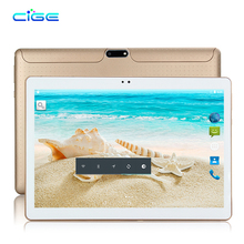 CIGE Free Ship 10 inch Tablet PC Android 7.0 2GB RAM 16GB ROM Quad Core 4 Cores Dual Cameras 5.0MP 1280*800 IPS Phone Tablets