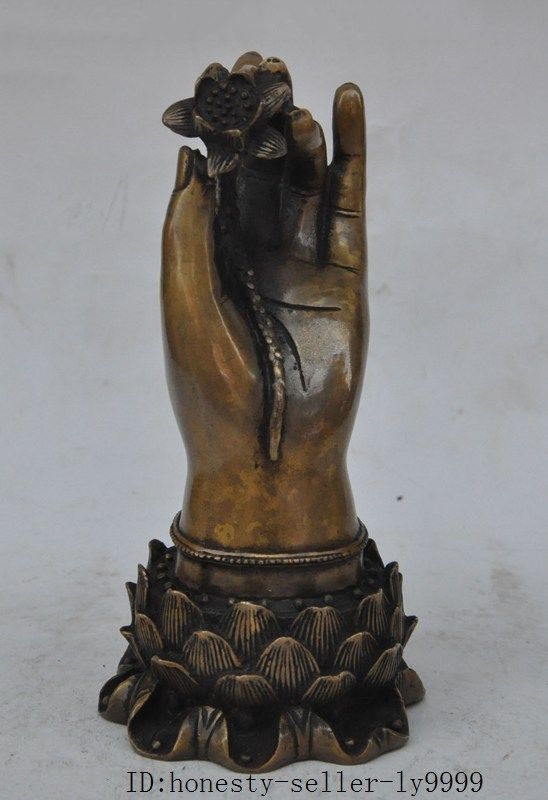 christmas china buddhism bronze KwanYin GuanYin Bodhisattva Goddess hand hold lotus statue halloween