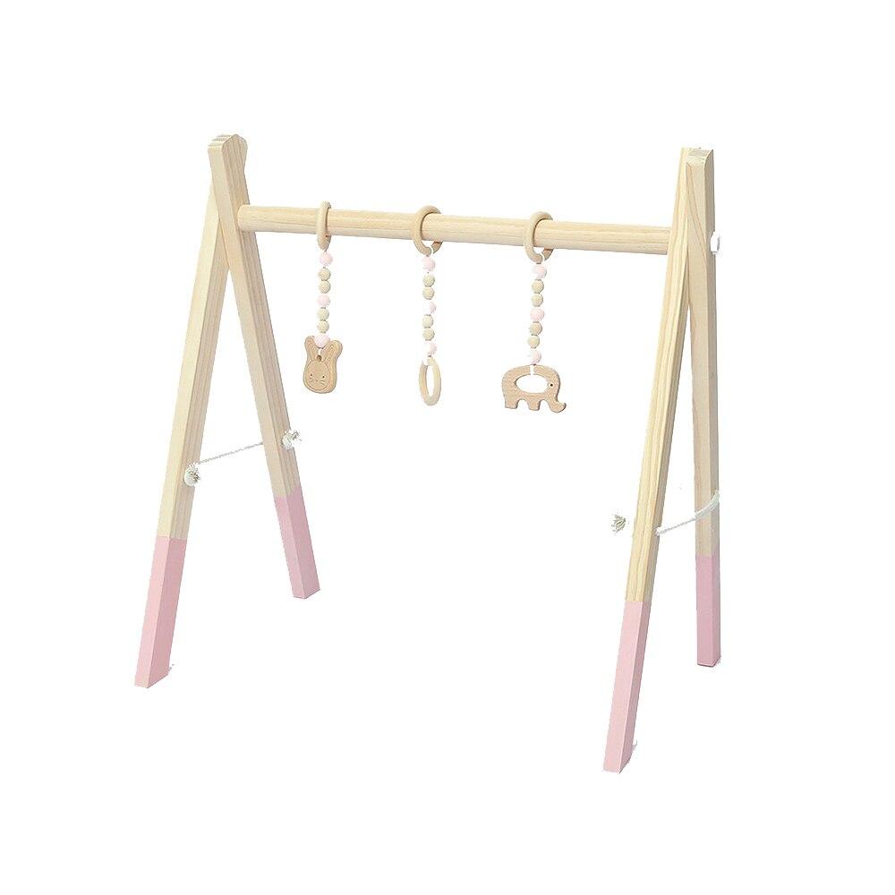 MrY bébé chambre décor jouer Gym jouet en bois infantile sensoriel jouet bébé chambre vêtements Rack photographie accessoires 0-12 mois hochets jouets