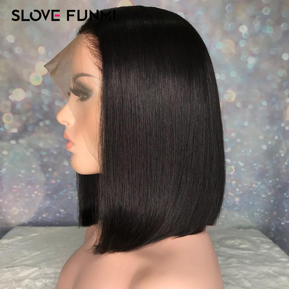Slove Funmi Short Lace Front Human Hair Wigs for Black Women Brazilian Remy Hair Bob Wig