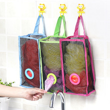 ФОТО Hanging Trash Bag Storage Shopping Bagstor Container Natural Basket Grocery Mesh Trash Wall Dispenser Kitchen Organizing Decor