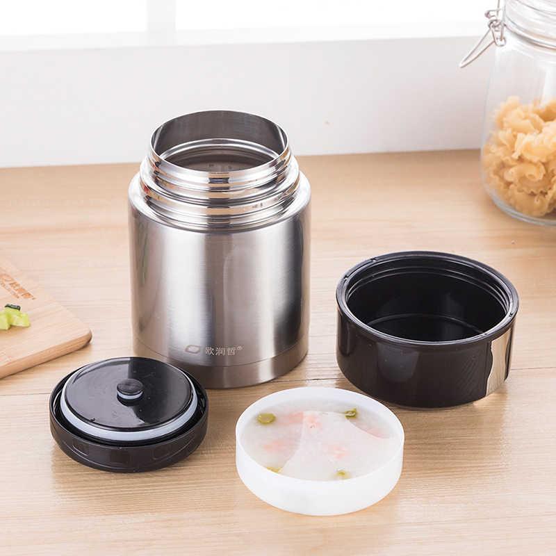 ORZ 304 Acero inoxidable 800 ml termo de vacío olla de alimentos aislado contenedor de almuerzo sopa de gambas de vacío prueba