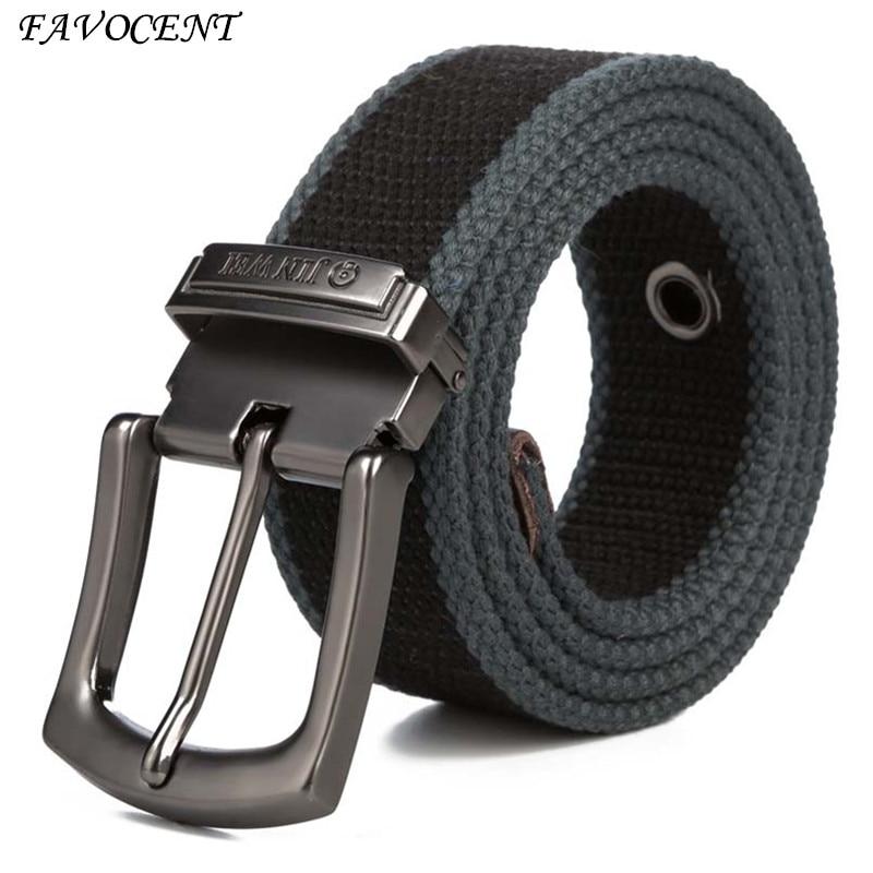 Män Weave Canvas bälte 2017 män träning midja bälte Casual Jeans Belt student nål Spänne-Belt Man Längd Tactical Belt