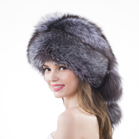 YECHNE Earmuffs Luxury Raccoon Fur Bomber Hats Winter Real Fur Colourful New Trapper Hat Pompom Russian Bomber Caps