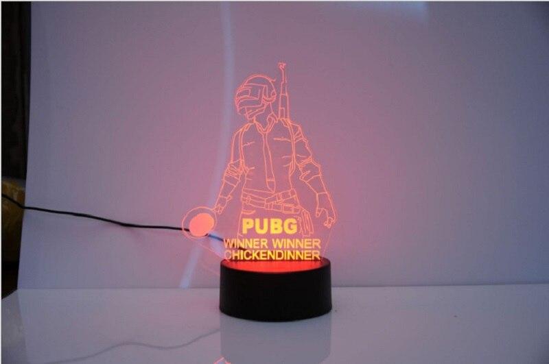 3d Table Acrylique Pubg Led Les Nuit Creative Lampe Colorée De Jeux Bureau Combat Playerunknown's Lumière DHe9EW2IY