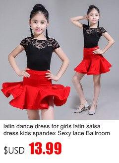 aca0af8a4 Dropwow Sequin tassel latin dance dress for girl salsa kids dresses ...