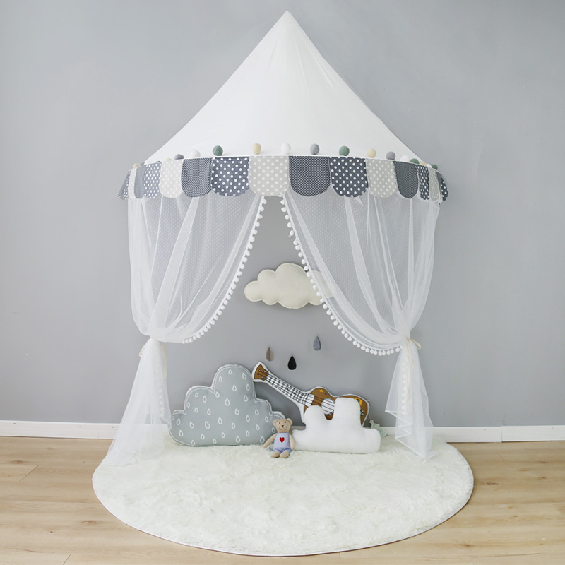 Children Tent Cotton Play Tent For Kids Canopy Bed Curtains For Baby Room Decoration Tipi Props For Photography