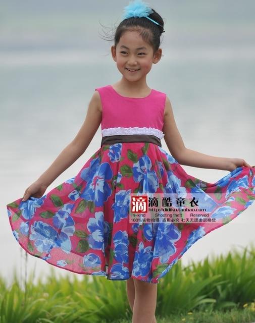 Children's clothing female child summer 2012 child princess dress female child 12028 one-piece dress