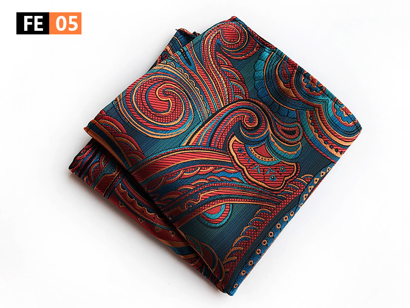 New Designer Men Pocket Square 25x25cm Big Size Luxury Handkerchief