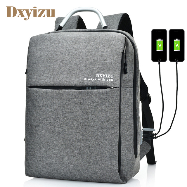 Unisex USB Waterproof Canvas Backpack Women Men Laptop Backpacks Travel  Teen School Bags Boys Back Pack mochila bagback 5b6a46eecc731