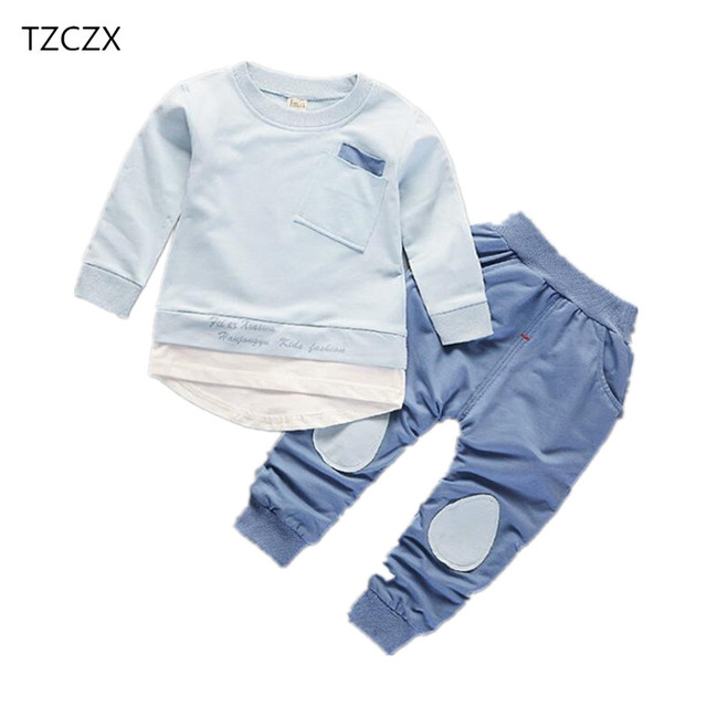 4e736294c7c9 TZCZX New Spring Children Baby Boys Girls Sets Active Fashion Suit For 9  Month to 4 Years Old Kids Wear Clothes