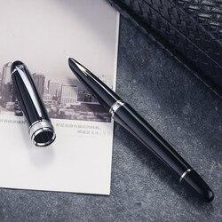 Hero 100 14K Золотое перо Классическая перьевая ручка со стрелкой подлинный качественный полностью металлический черно-Золотой/Серебряный зажи...