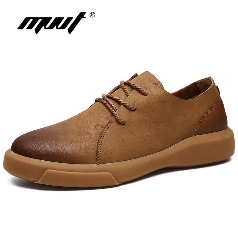 MVVT Comfortable Men Leather Shoes Cushioning Soft Men Casual Shoes Lace Up Men Loafers Soft Men Flats Hot Sale Moccasins Shoes цены онлайн