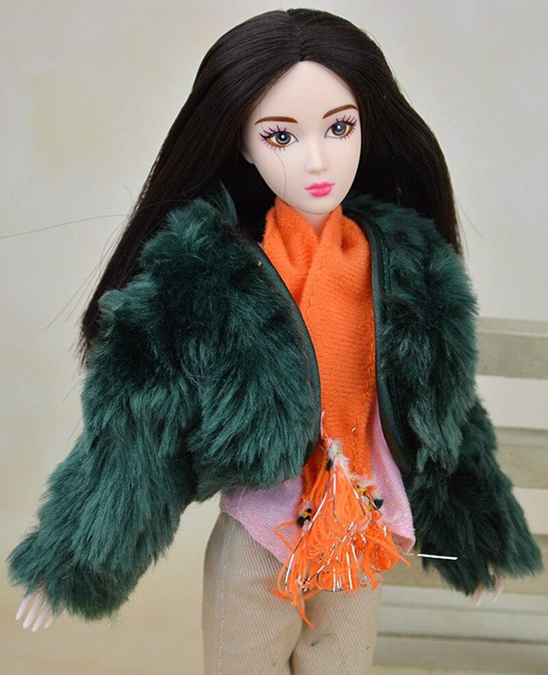 Dukke Tilbehør Sett Vinterdrag Pelscoat Mote Klær For Barbie Doll - Dukker og tilbehør - Bilde 4