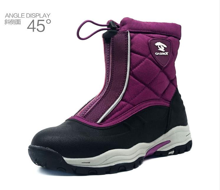 Модные зимние теплые сапоги, 1 пара, удобная детская обувь, Нескользящие хлопковые сапоги для мальчиков и девочек