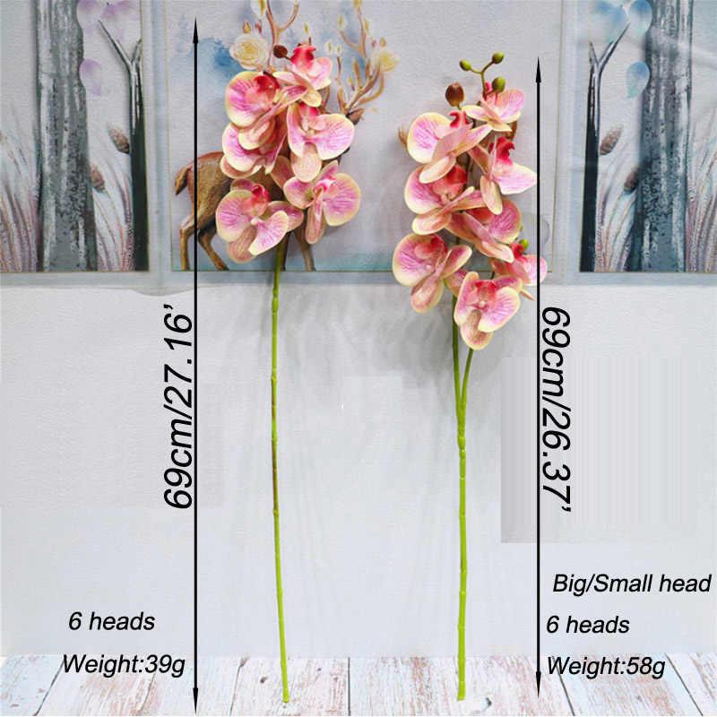Mariposa Artificial de la orquídea flores 3D falso polilla flor de la orquídea para casa decoración de boda DIY toque Real Casa decoración Flore