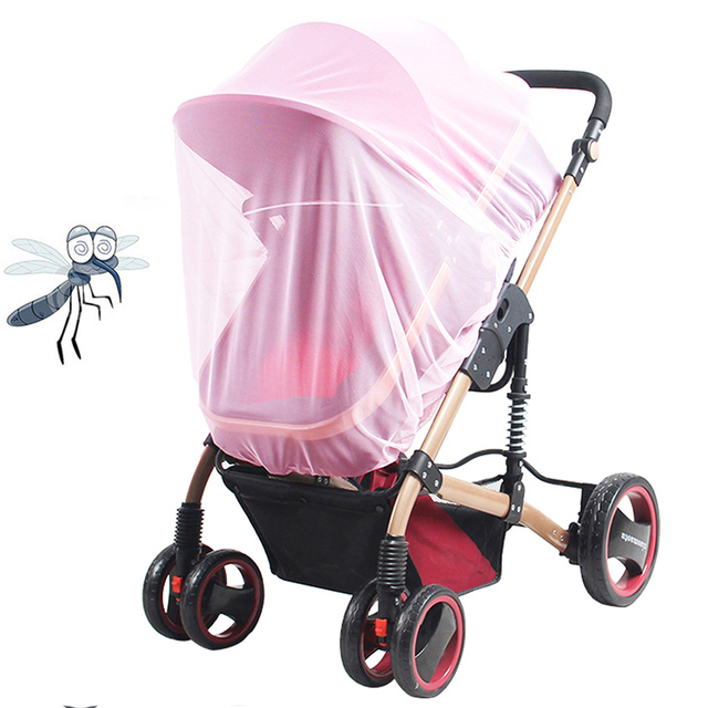 Baby Stroller Pushchair Mosquito Insect Net Newborn Infant Stroller Netting Crib Cart Mosquito Net Strollers Accessories