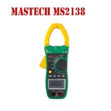Mastech MS2138 Цифровой Клещи Мультиметр ПОСТОЯННОГО/ПЕРЕМЕННОГО ТОКА Напряжение Ток 1000A Pinza Amperimetrica ЖК Multimetro Диагностический инструмент
