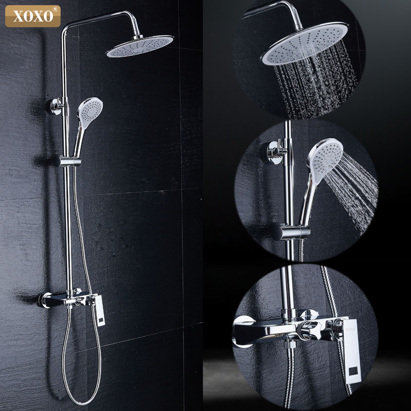 XOXO free shipping new bathroom shower faucet copper bath tub shower faucet shower faucet waterfall shower head wall mixer 80010