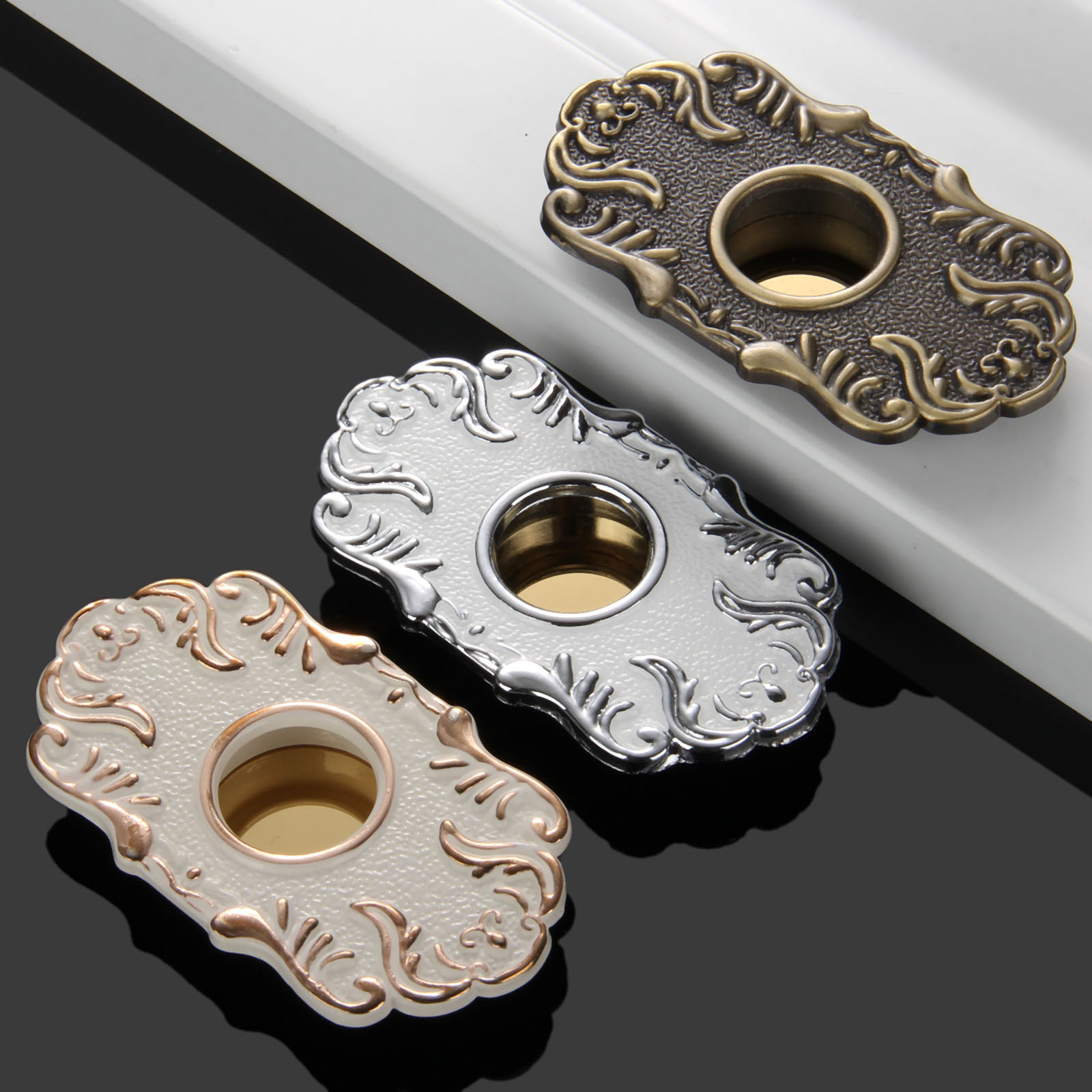 32mm Furniture Handles Cabinet Knobs and Handles Sliding Door Knob Drawer Hidden Recessed Flush Pull Handles Furniture Fittings
