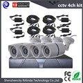 Бесплатная доставка Система ВИДЕОНАБЛЮДЕНИЯ 4CH 960 H DVR 4 ШТ. 800TVL ИК Всепогодный Открытый CCTV Камеры Главная Система Видеонаблюдения комплекты