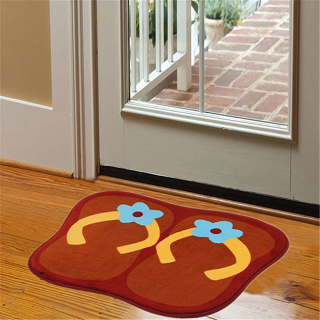 Cute Big Feet Slippers Shape Bathroom Mat Anti slip Floor Mats ...