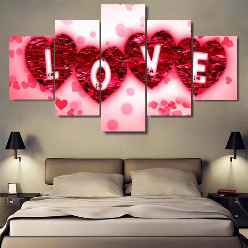 panel modular de amor foto casa moderna decoracin de la pared de lona imagen marco