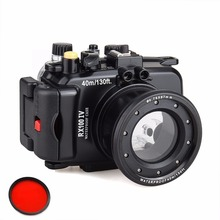 Meikon underwater camera housing for Sony RX100 IV/ RX100 M4 Waterproof to 40m/130 Feet With Red Filter 67mm цена и фото