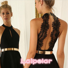 2018 new women fashion backless sexy dress black white andeless dresses slim casual mini Laipelar