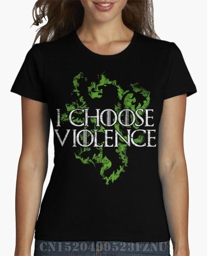Spring black friday t shirts girl I choose violence Short Novelty Knitted Hipster Tees