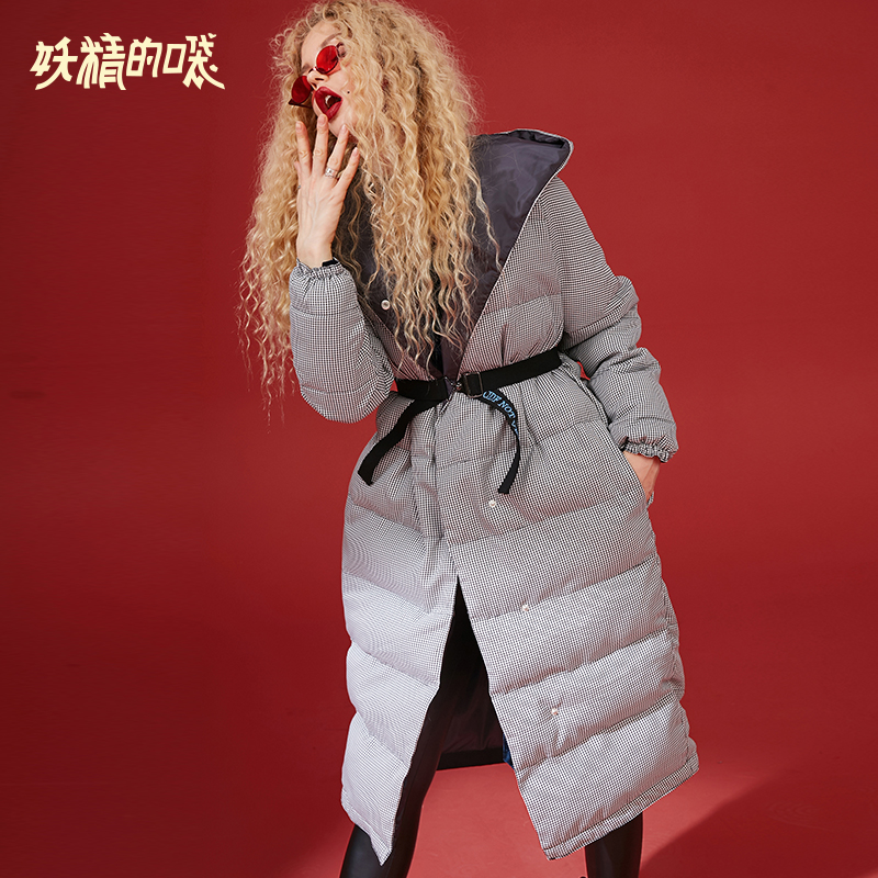 ELF SACK New Warm Jacket Woman Casual Plaid Single Breasted Full Women Coats Thick Femme Jackets For Female Winter Wearing