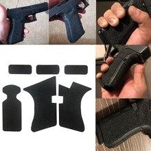 Funda de pistola de 9mm revista arma accesorios antideslizante de goma textura agarre envoltura cinta guante para Glock 17 19 20 21 22 25 26 27 33 43