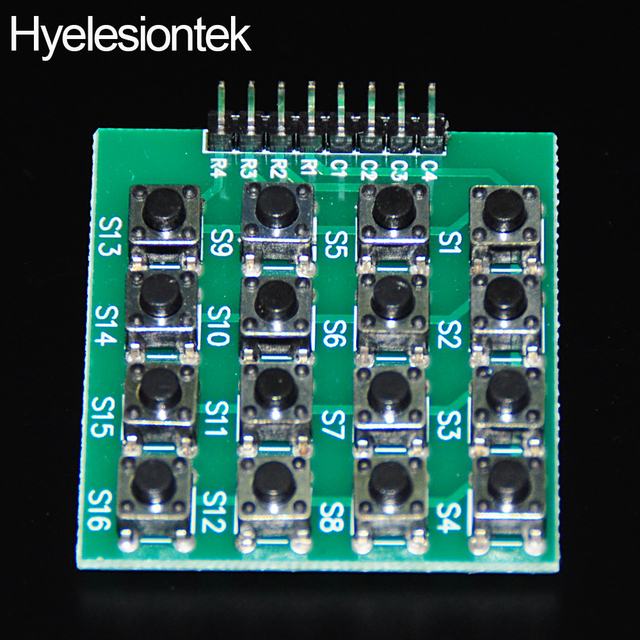 db8520429b6 4X4 Matrix Keyboard For Arduino Array Module 16 Key Buttons Membrane Switch  Expansion Keypad Panel 4*4 Control MCU Accessory Kit