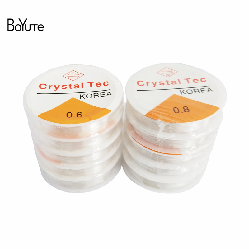 BoYuTe 5Pcs 0.5/0.6/0.7/0.8/1MM Diameter Crystal Stretch Elastic Beading Wire Cord String Diy Jewelry Findings Components