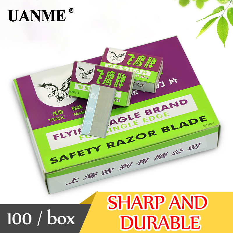 UANME 100PCS/BOX Flying Eagle Brand Safety Razor Blade for OCA Adhesive Sticker Removing Cleaning LCD Repair Tool