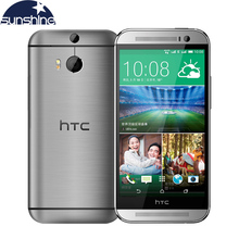 "Original HTC One M8 Mobile Phone 5"" Qualcomm Quad core Smartphone 2G RAM 16GB ROM Refurbished Phones 3 Cameras WCDMA Cell Phone"