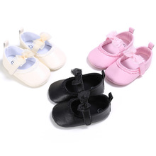 Baby Girls PU Leahter Shoes Spring Autumn Princess Mary Jane Shoes First Walkers Crib Bebe Soft Rubber Soled Prewalkers Footwear