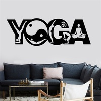 Wall Sticker Buddha Yoga Pose Positions Zen Meditation Om Vinyl Decal