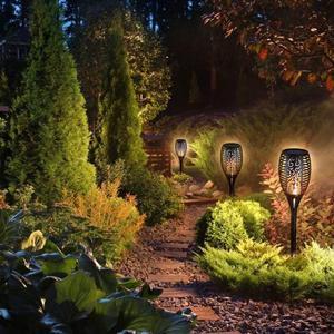 Image 2 - 1 шт. или 2 шт. 96 Светодиодный фонарь светильник на солнечной батарее с мигающим пламенем, уличный фонарь для украшения ландшафта, сада, газона, светильник Zonlicht