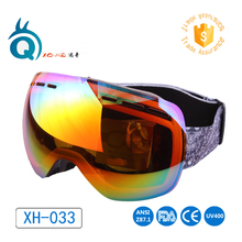 2017 free shipping sports ski goggles Anti-fog UV400 lens snowboarding snow eyewear with strap man women skiing sunglasses