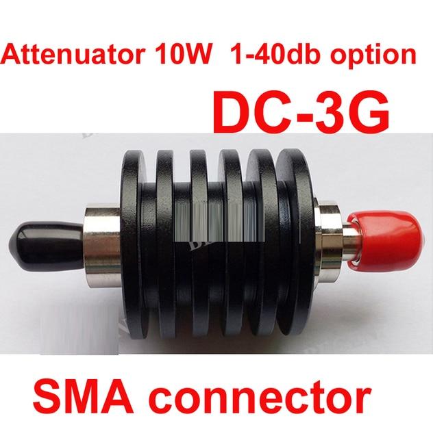 Мощность 10 Вт РФ аттенюатор SMA мужского на женский DC-3G 3-40DB ослабления разъем подачи разъем РФ КОАКСИАЛЬНЫЙ разъем 10 Вт аттенюатор
